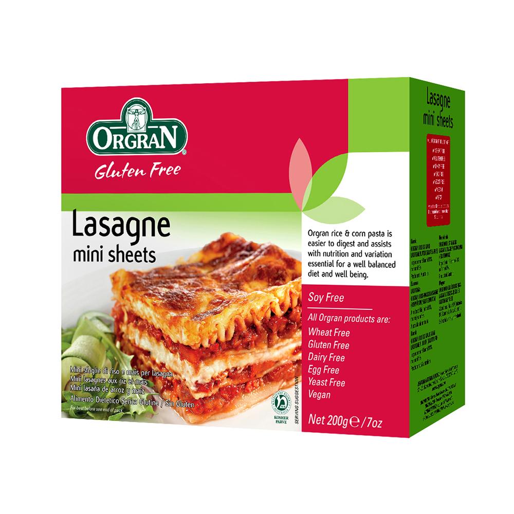 Orgran Rice & Corn Mini Lasagne Pasta Sheets - 200g