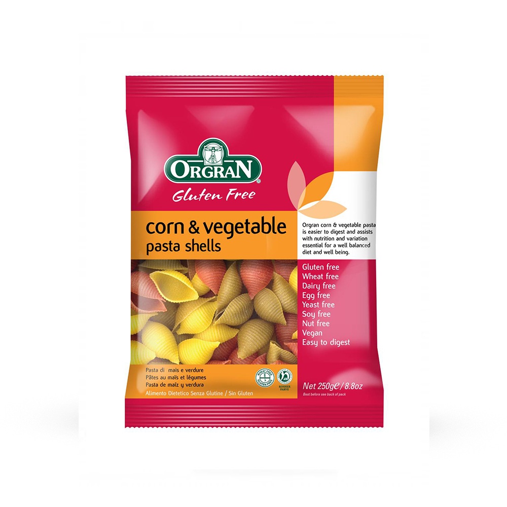 Orgran Corn & Vegetable Pasta Shells - 250g