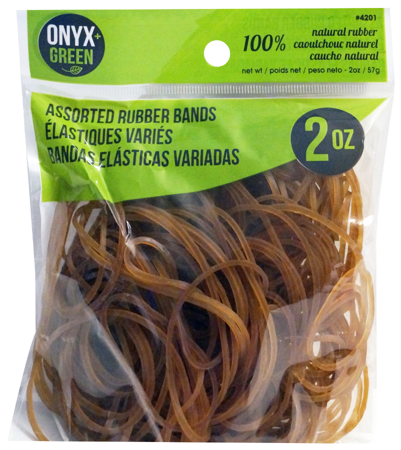 Image of 100% Natural Rubber Bands - Assorted Sizes - 2oz