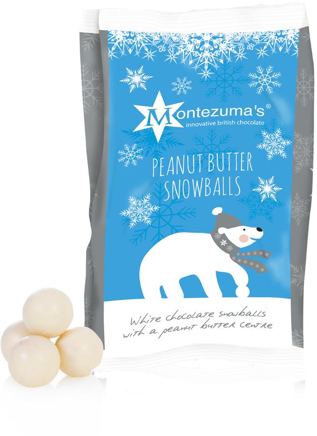 Montezumas Peanut Butter Chocolate Snowballs 150g Montezumas