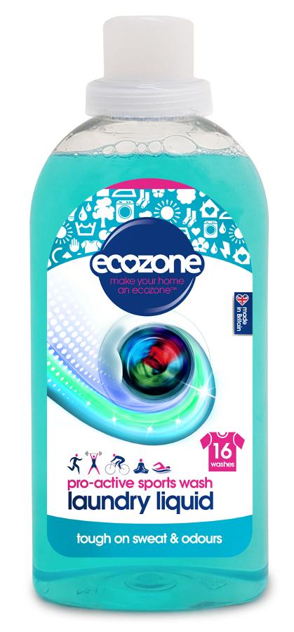 Ecozone Bio Laundry Liquid Pro-Active Sports Wash - 750ml - 16 Washes