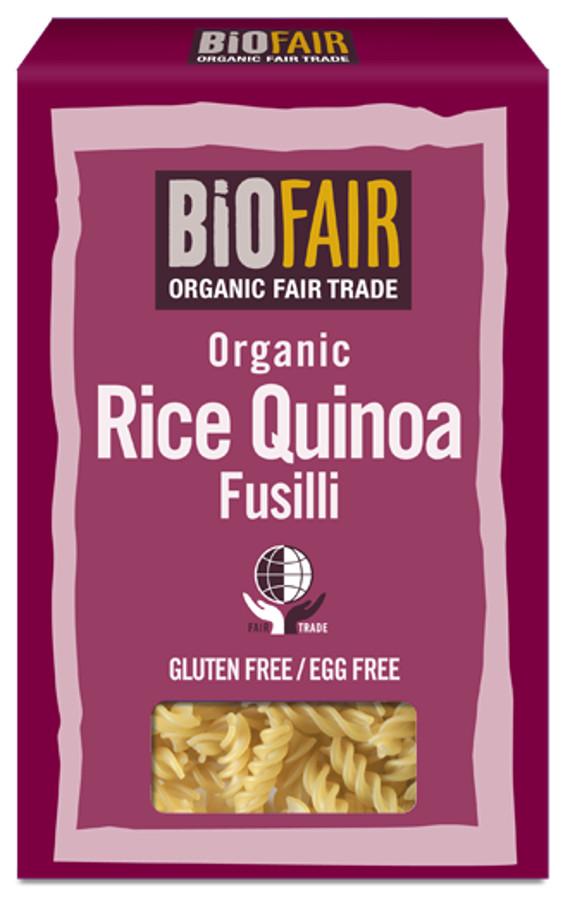 Biofair Organic Rice Quinoa Fusilli Pasta - Fair Trade - 250g