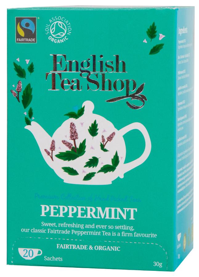 English Tea Shop Organic and Fairtrade Peppermint Tea - 20 Bags - Sachets