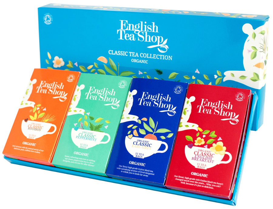 English Tea Shop Organic Classic Tea Collection - 60 Bags - Sachets