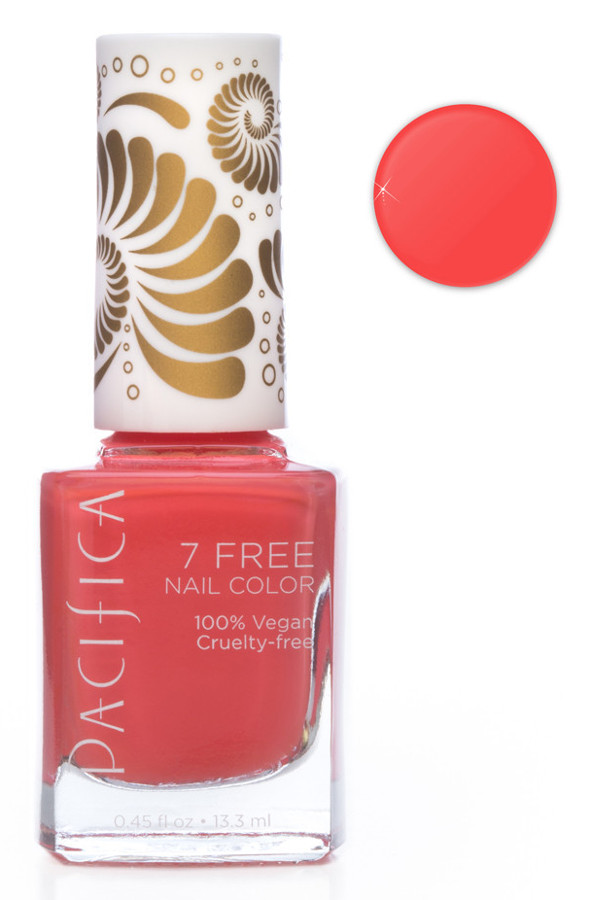 Pacifica 7 Free Vegan Nail Polish Totally Coral 13 3ml Pacifica