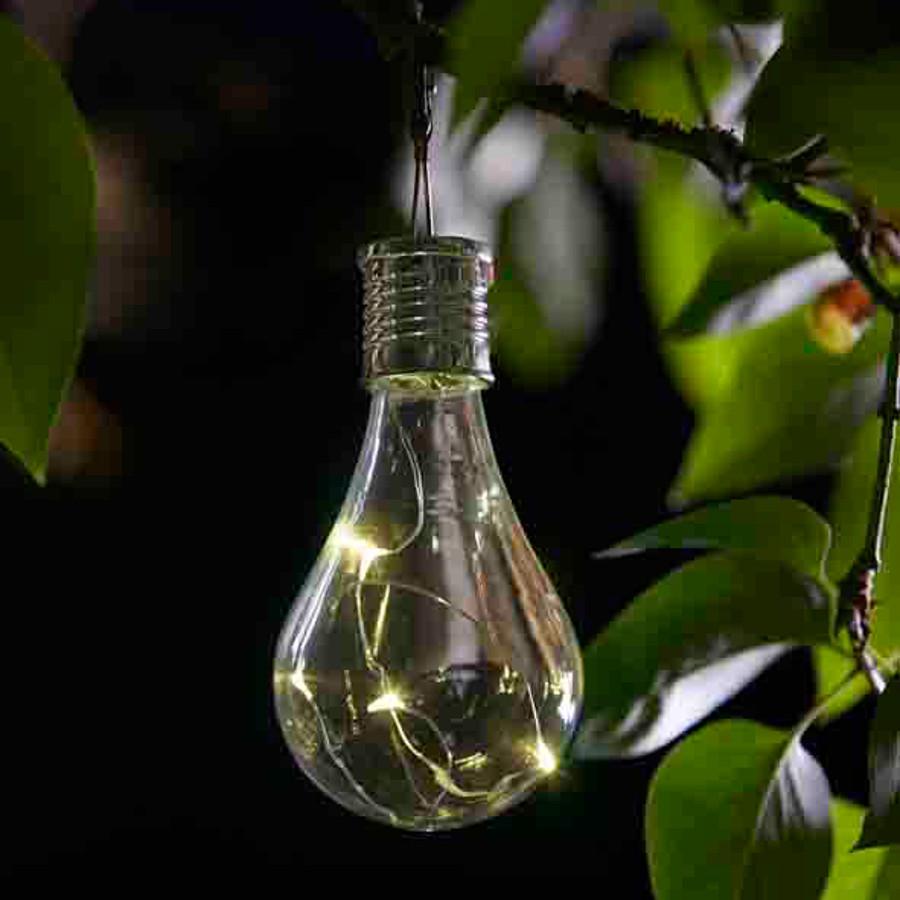 Eureka Solar Powered Lightbulb Lantern 6 Pack Smart Garden