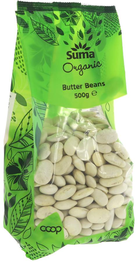 Suma Prepacks Organic Butter Beans - 500g