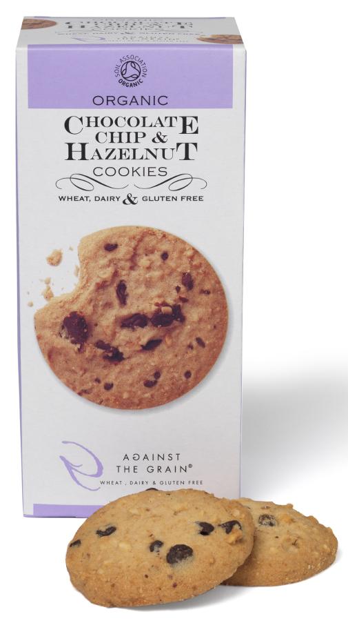 Against The Grain Organic Choc Chip & Hazelnut Cookies - 150g
