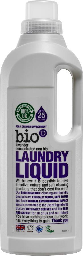 Bio D Concentrated Non-Bio Laundry Liquid - Lavender - 1L - 25 Washes