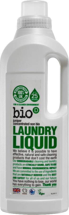 Bio D Concentrated Non-Bio Laundry Liquid - Fresh Juniper - 1L - 25 Washes