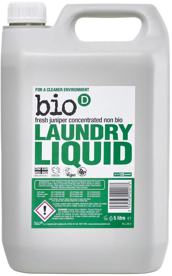 Bio D Concentrated Non-Bio Laundry Liquid - Fresh Juniper - 5L - 125 Washes