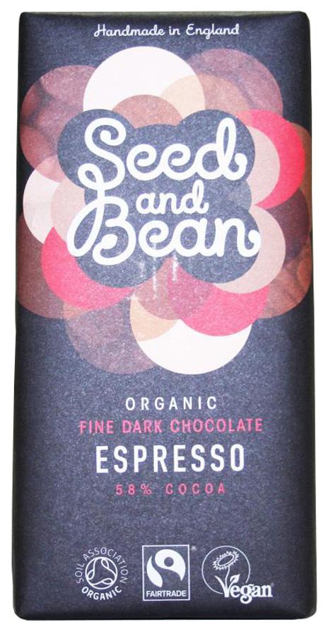 Seed and Bean Organic Fine Dark Chocolate Bar - Espresso - 85g