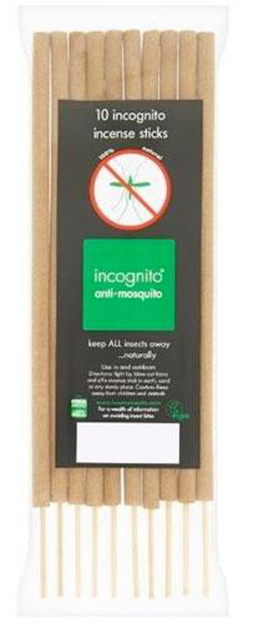 Incognito Anti-Mosquito Incense Sticks - Pack of 10