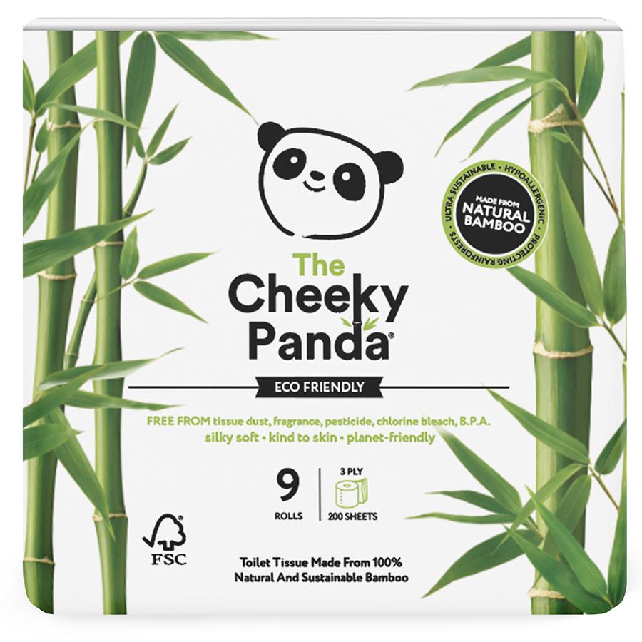 The Cheeky Panda FSC Bamboo Toilet Tissue - 9 Rolls