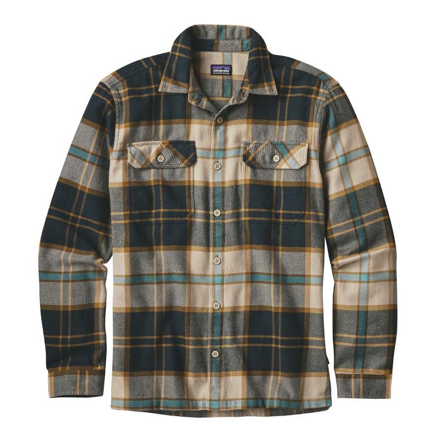 Patagonia Mens Fjord Flannel Shirt Khaki Patagonia