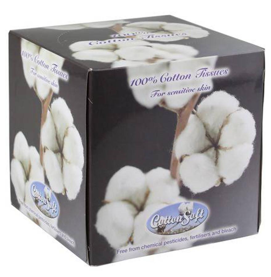 Cotton Soft Facial Tissues - 56 Sheets