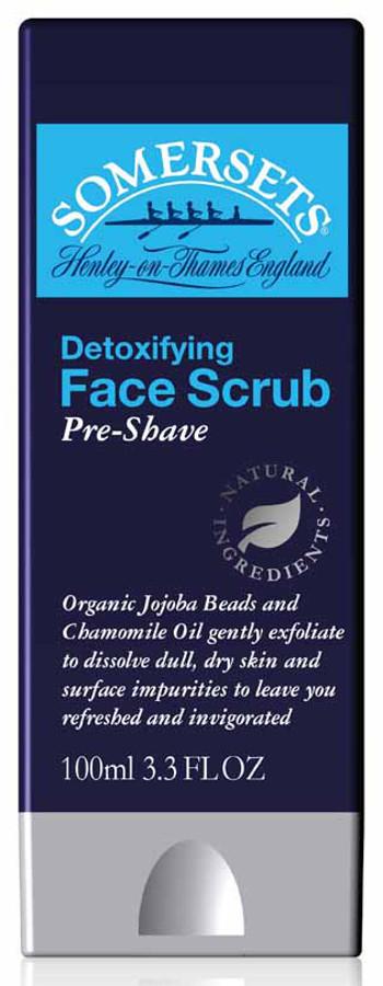 Somersets Detoxifying Pre-Shave Facial Scrub - 100ml