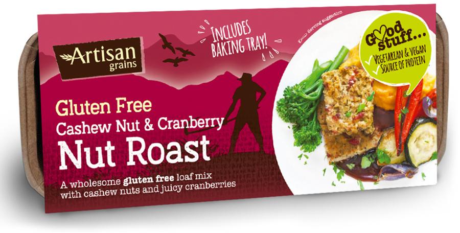 Artisan Grains Nut Roast - Cashew & Cranberry - 200g