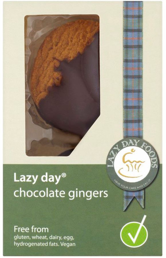 Lazy Day Dark Belgian Chocolate Ginger Biscuits - 125g