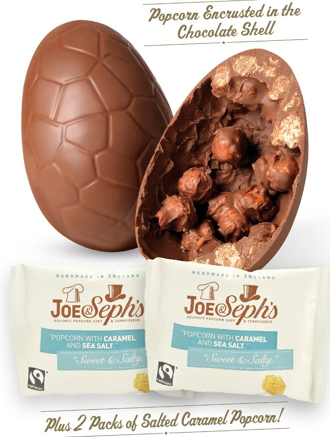 Divine Milk Chocolate Easter Egg With Joe & Seph's Salted ...