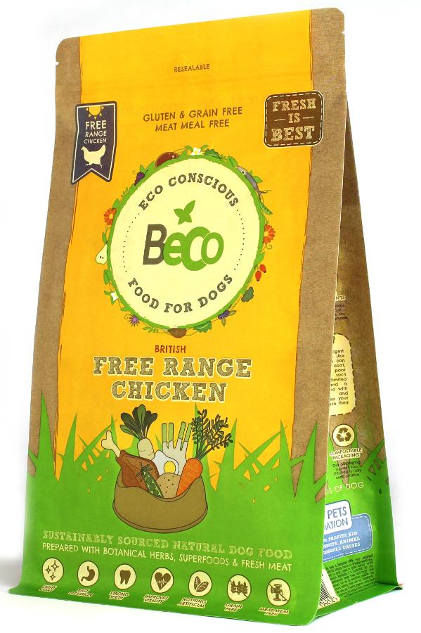Beco Natural Dog Food 2kg - Free Range Chicken