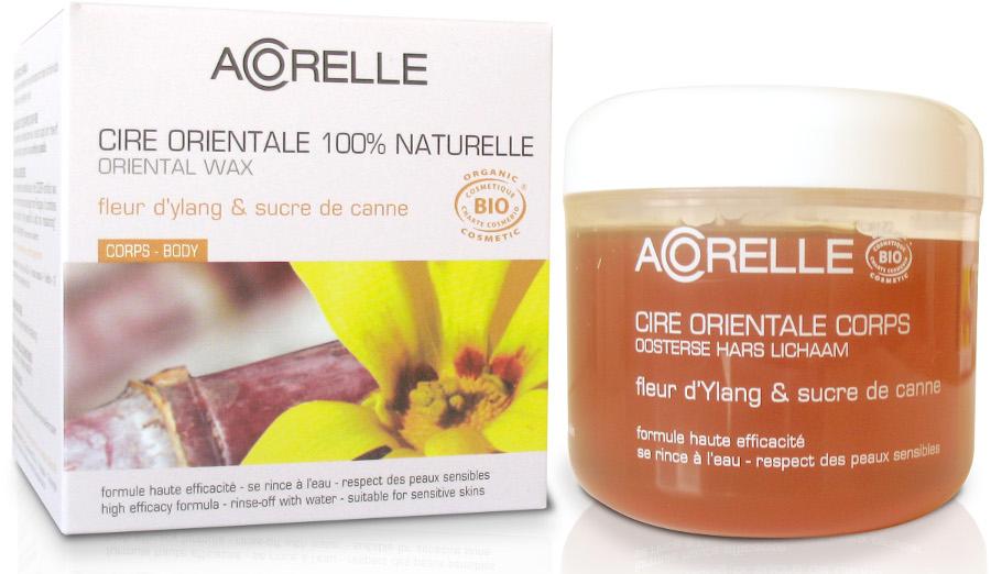 Acorelle Sugar Wax with Strips - Body - Ylang Ylang Flower & Sugar Cane - Pot - 300g