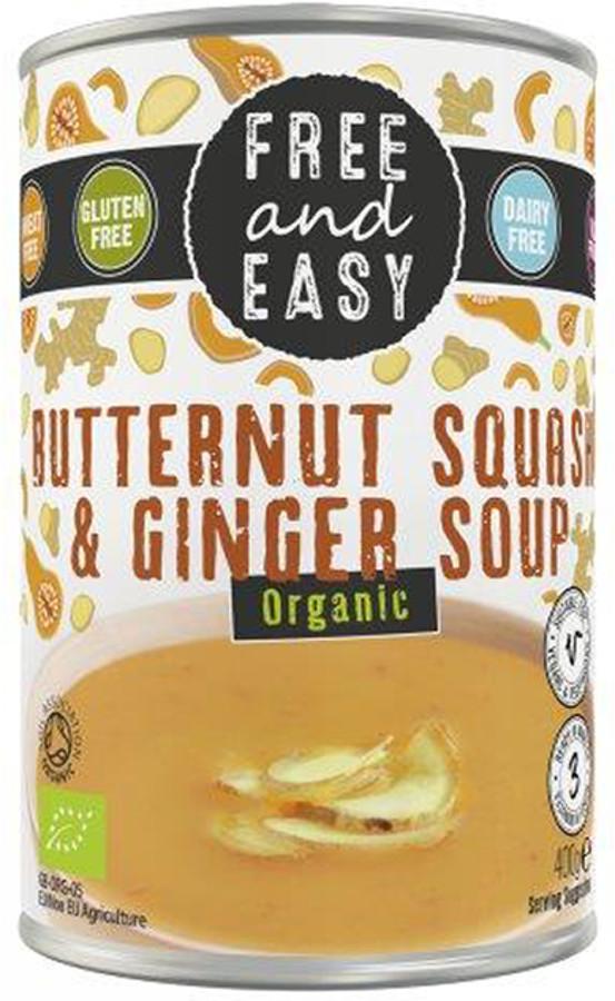 Free & Easy Organic Butternut Squash & Ginger Soup - 400g