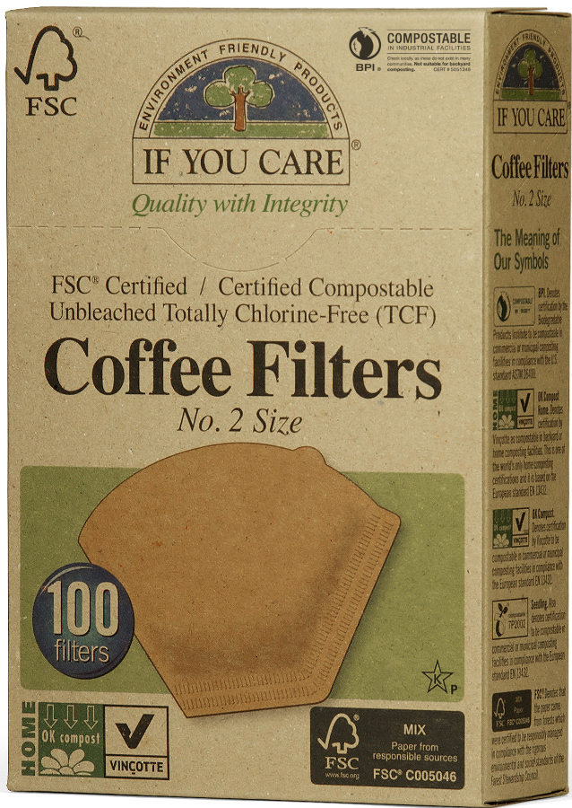 If You Care Compostable Unbleached Coffee Filters No.2 - 100 Filters