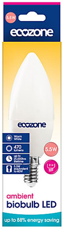 Ecozone E14 Ambient LED Biobulb - 5.5 Watt - 40 Watt Equivalent