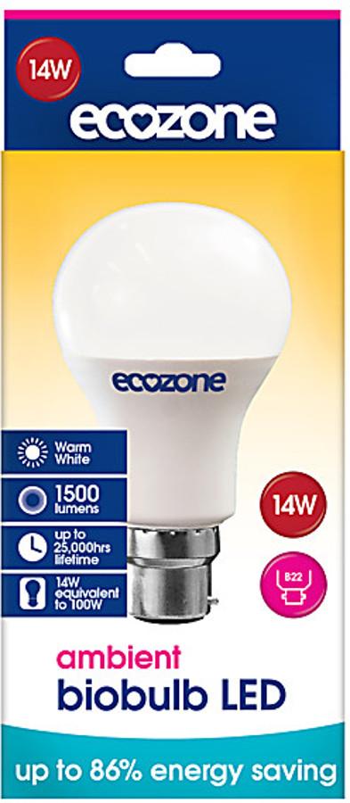 Image of Ecozone B22 Ambient LED Biobulb - 14 Watt - 100 Watt Equivalent