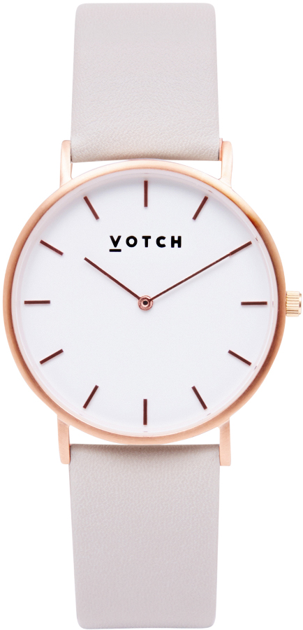 Votch Classic Collection Vegan Leather Watch - Rose Gold