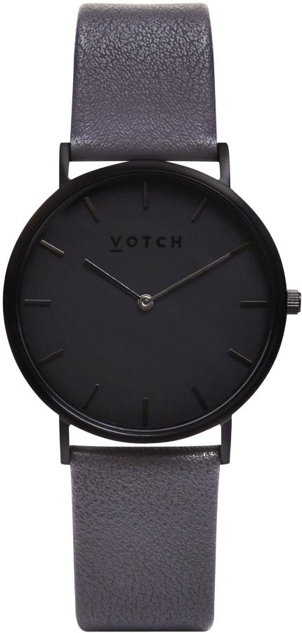 Votch Classic Collection Vegan Leather Watch - Black