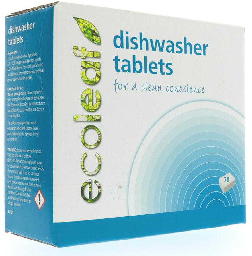 Ecoleaf Dishwasher Tablets - 70 Tablets