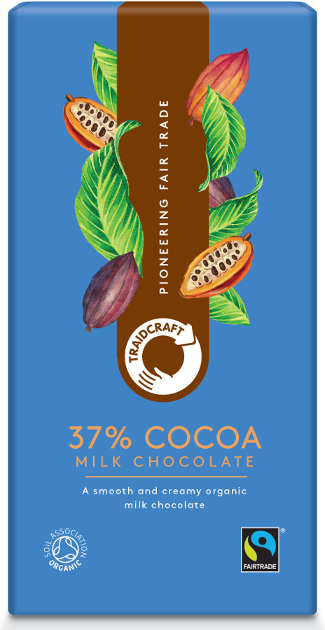 Traidcraft Fairtrade Organic Milk Chocolate 37% Cocoa - 100g
