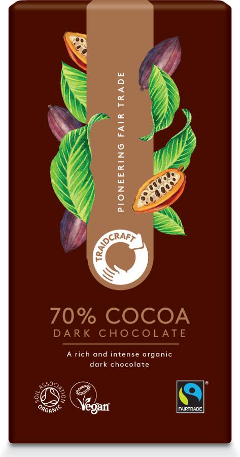 Traidcraft Fairtrade Organic 70% Dark Chocolate - 100g