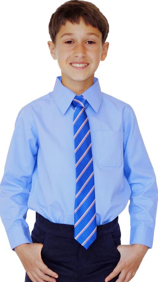 Image of Blue Long Sleeve Shirt - 10yrs+