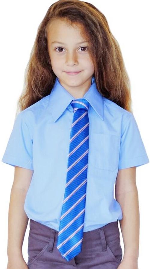 Image of Blue Short Sleeve Shirt - 10yrs+