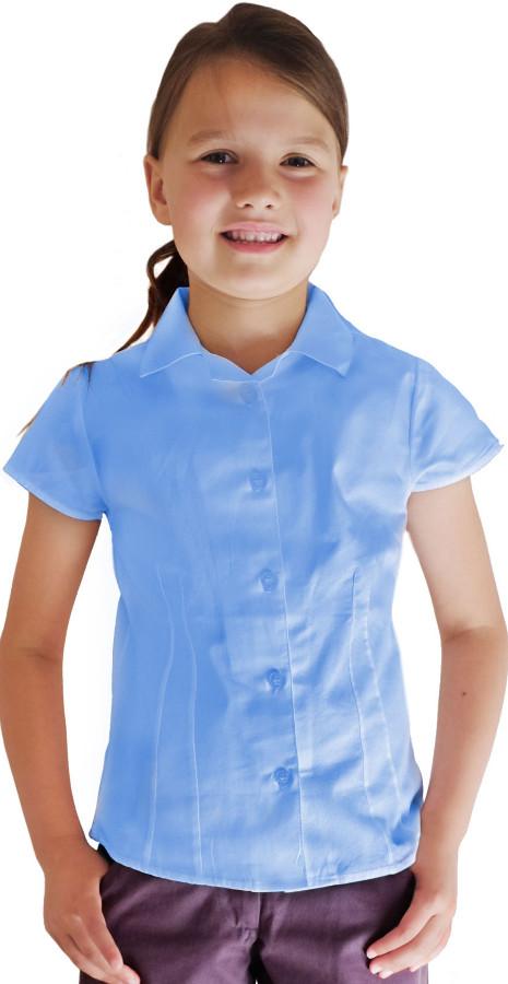 Image of Blue Short Sleeve Blouse - 10yrs+