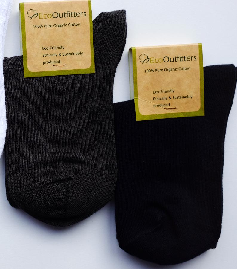 Image of Organic Cotton Black School Socks
