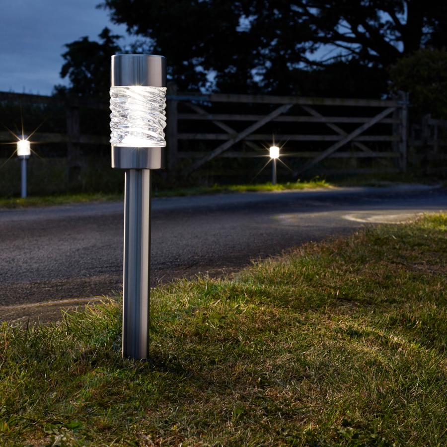 Solar Powered Martello Stainless Steel Stake Light Pack