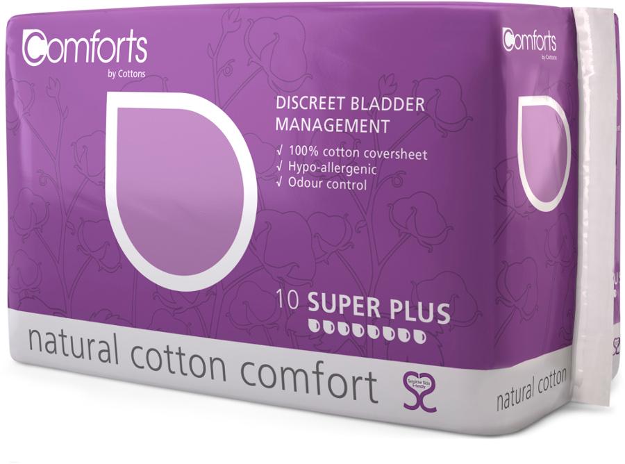 Comforts Discreet Bladder Management Pads - Super Plus - Pack of 10