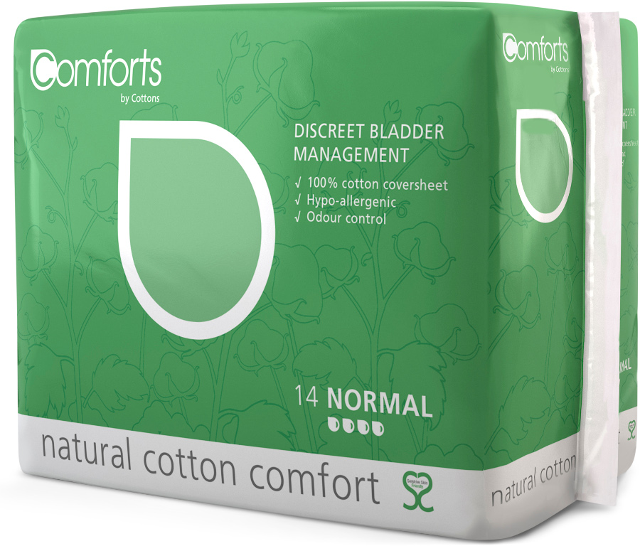 Comforts Discreet Bladder Management Pads - Normal - Pack of 10