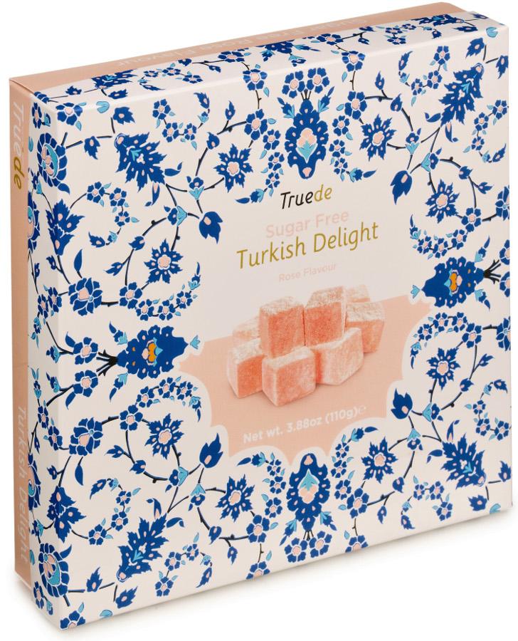 Truede Sugar Free Turkish Delight - Rose - 110g