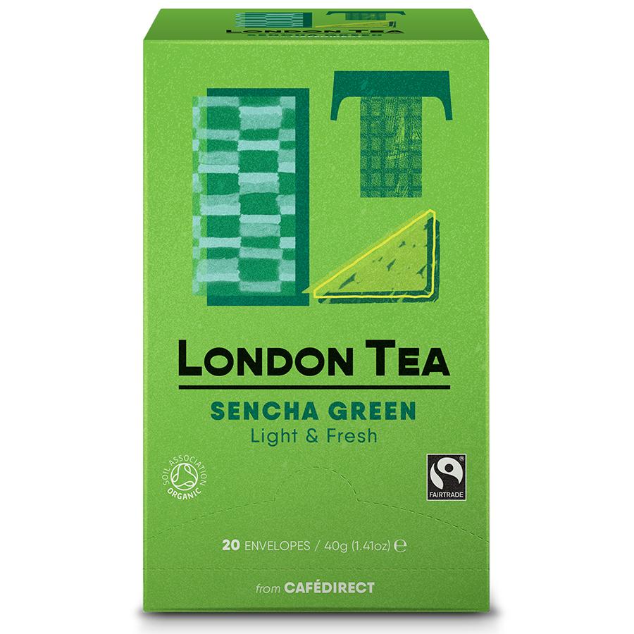 London Tea Company Organic Fairtrade Sencha Green Tea - 20 bags