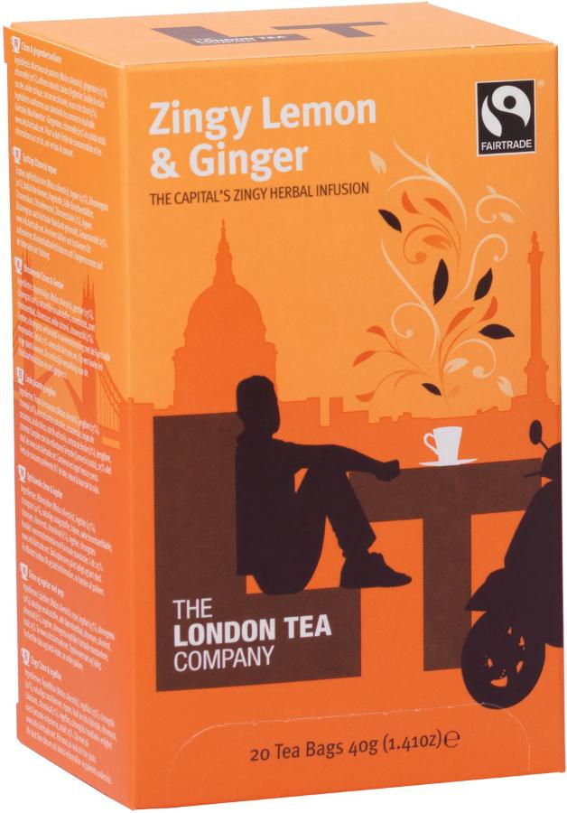 London Tea Company Fairtrade Zingy Lemon & Ginger Tea - 20 bags