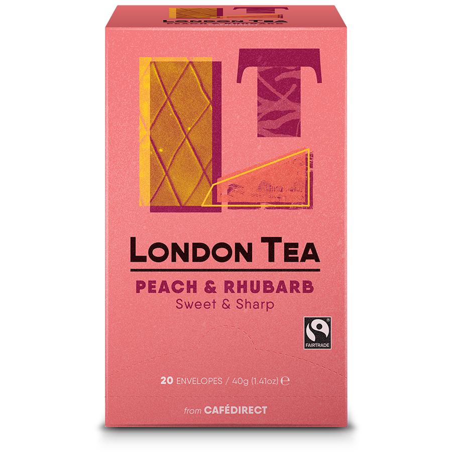 London Tea Company Fairtrade Peach & Rhubarb Tea - 20 bags