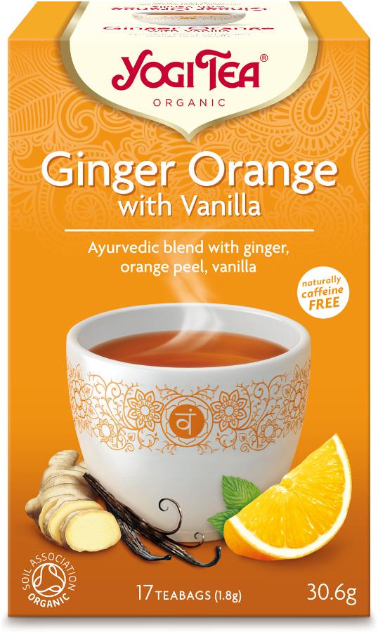 Yogi Organic Ginger Orange & Vanilla Tea - 17 Bags