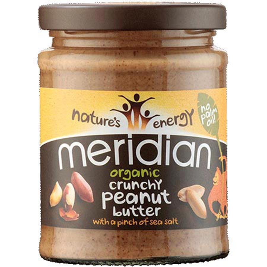 Meridian Crunchy Organic Peanut Butter No Added Sugar 280g