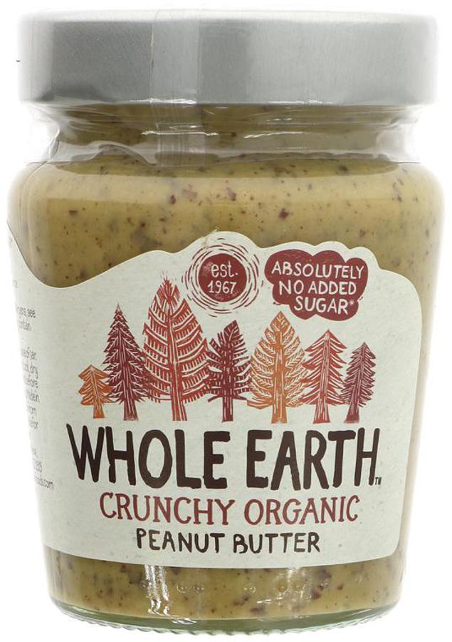 Whole Earth Organic Crunchy Peanut Butter - No Added Sugar - 227g
