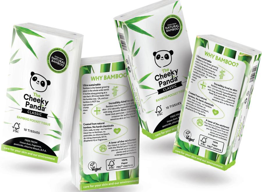 The Cheeky Panda FSC 100% Bamboo Pocket Tissue - 8 Pack